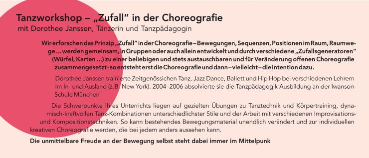 "Workshop – ""Zufall"" in der Choreografie"
